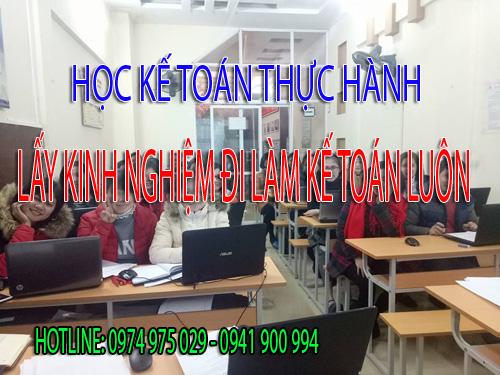 Trung tâm dạy kế toán thực hành tại Quận Tân Phú
