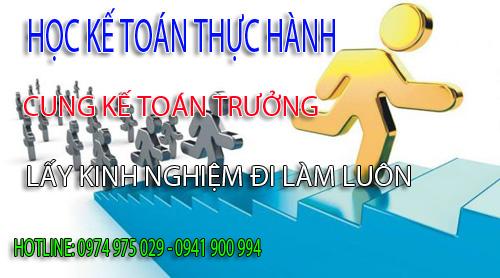 Trung tâm dạy kế toán thực hành tại Quận Gò Vấp