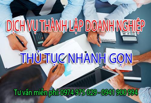 Nhận làm dịch vụ thành lập doanh nghiệp công ty tại các Huyện Thanh Oai, Chương Mỹ, Thường Tín