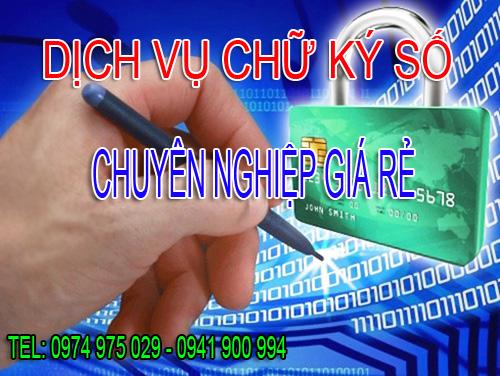 Dịch vụ chữ ký số chuyên nghiệp giá rẻ