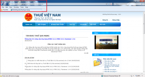 Hướng dẫn nộp tờ khai thuế GTGT qua mạng