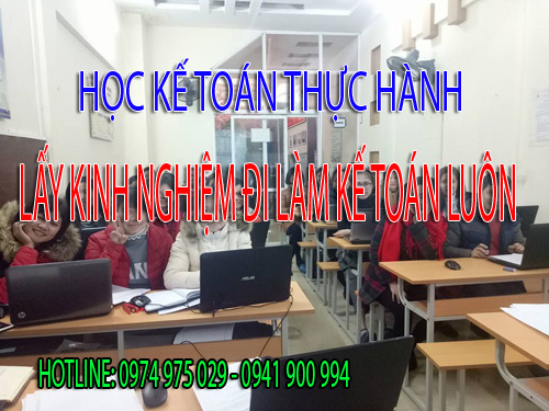 Trung tâm dạy kế toán thực hành tại Huyện Bình Chánh