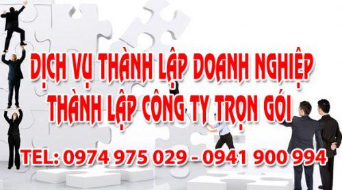 Dịch vụ thành lập doanh nghiệp công ty trọn gói tại Thái Bình